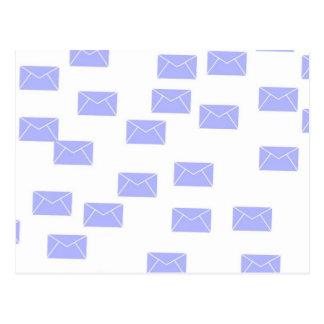 blue envelopes postcard