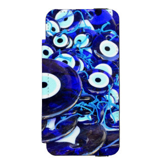 Blue Evil Eye amulets Incipio Watson™ iPhone 5 Wallet Case