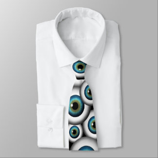 Blue Eye Eyeballs Cool Custom NeckTies Tie