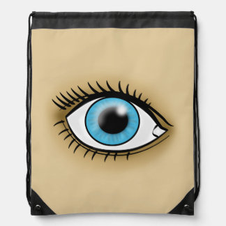 Blue Eye icon Drawstring Bag