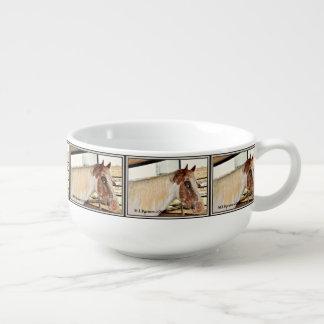"""Blue Eyes"" Horse Accent Soup Mug"