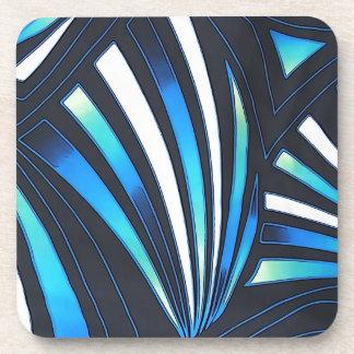 blue fan coaster