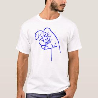 Blue Fang Finger T-Shirt