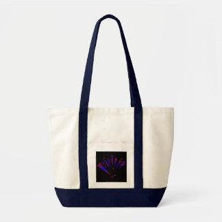 Blue Fantasia In Natural And Navy Impulse Tote Bag
