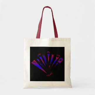 Blue Fantasia In Natural And Red Budget Tote Bag