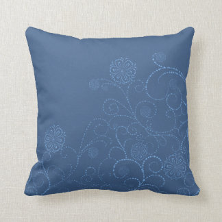 Blue Floral Cushion