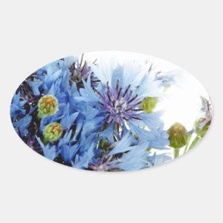Blue floral decor arrangement clear water peaceful stickers