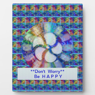 Blue Floral DREAM : Editable Text replace Greeting Photo Plaque