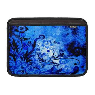 Blue Floral Swirls Sleeves For MacBook Air