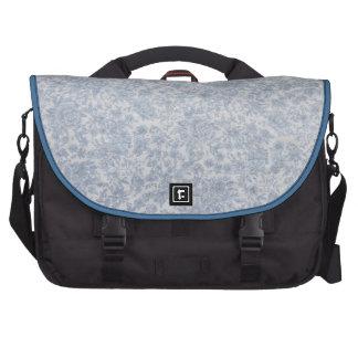 Blue floral vintage fabric bag for laptop