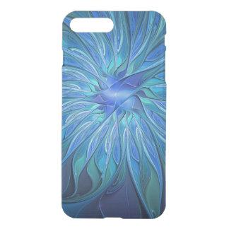 Blue Flower Fantasy Pattern, Abstract Fractal Art iPhone 8 Plus/7 Plus Case