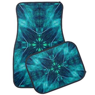 Blue Flower Fractal Design Floor Mat