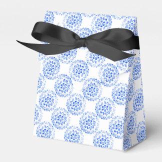 Blue Flower Mandalas Round Motif Design 2 + add Party Favour Boxes