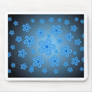 Blue flowers mousepads