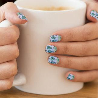 Blue Flowers Nail Art by ®Minx