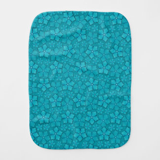 Blue Flowers pattern Burp Cloth