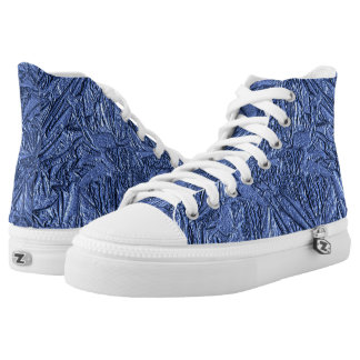 Blue Foil Design Printed Shoes