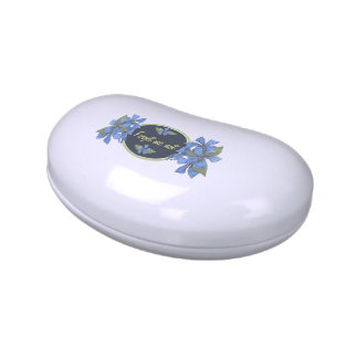 Blue Forget me not Wildflowers Jelly Belly Candy Tins