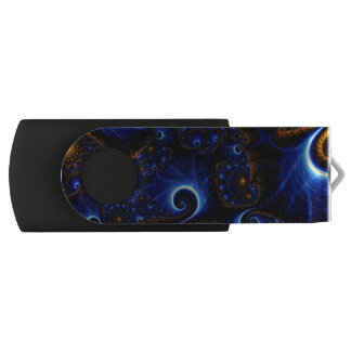 Blue fractal USB USB Flash Drive