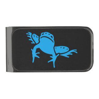 Blue Frog Happy Feelings Cash Stash Gunmetal Finish Money Clip
