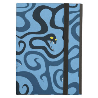 Blue Funny Snakes And Tentacles In Love iPad Air Cover