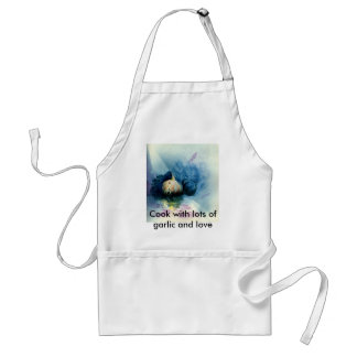Blue Garlic, Cook with lots of garlic and love Standard Apron