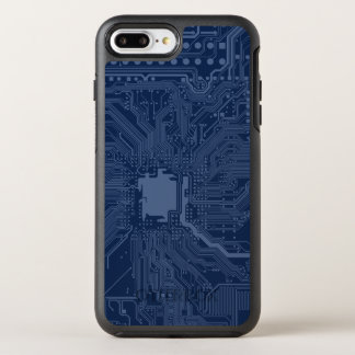 Blue Geek Motherboard Circuit Pattern OtterBox Symmetry iPhone 8 Plus/7 Plus Case