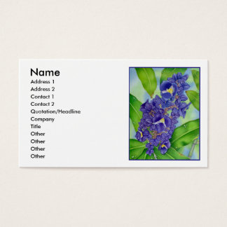 Blue Ginger Watercolour Business Card