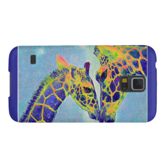 blue giraffes samsung galazy case galaxy s5 cover