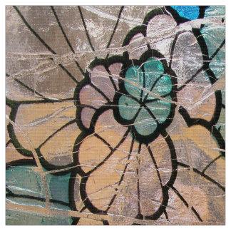 Blue Glass Flower Fabric