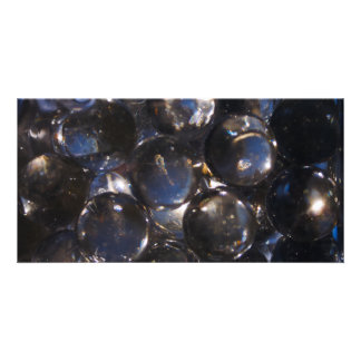 Blue Glass Pebbles - abstract photograph Personalized Photo Card