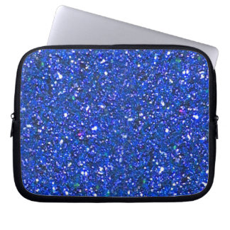 BLUE GLITTER LAPTOP SLEEVE