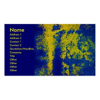 Blue Gold Designer Business Card