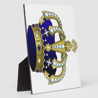 Blue & Gold Royal Crown Plaque