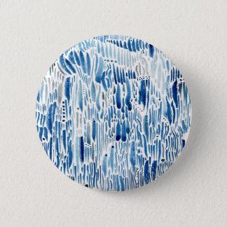 Blue grass 6 cm round badge