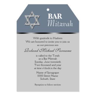 Blue gray bar mitzvah celebrations card