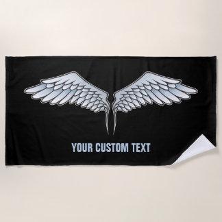Blue-gray wings beach towel