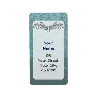 Blue-gray wings label
