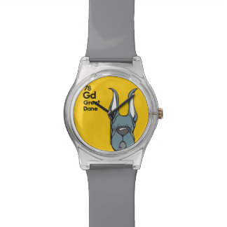 Blue Great Dane Cropped Ears - The Dog Table Watch