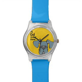Blue Great Dane Natural Ears - The Dog Table Watch