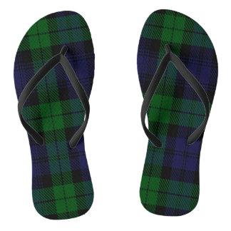 Blue Green Highland Sunderland Tartan Check Jandals