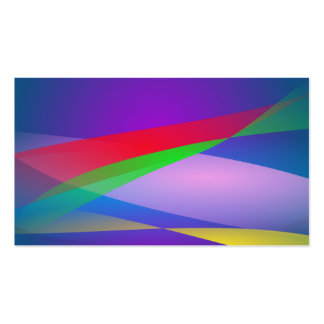 Blue Green Minimalism Abstract Art Business Cards