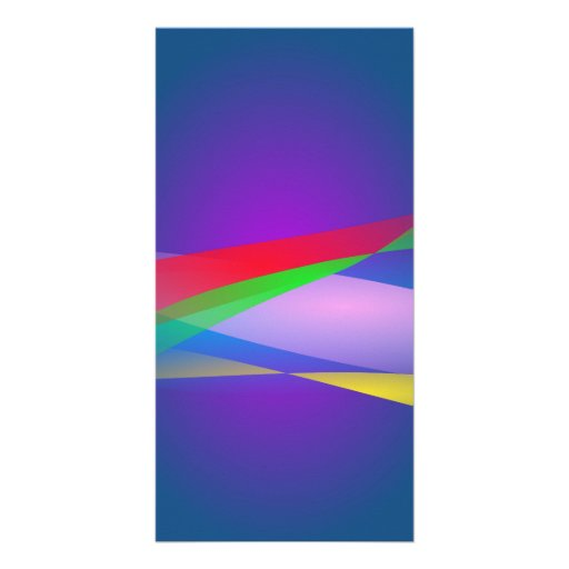 Blue Green Minimalism Abstract Art Personalized Photo Card