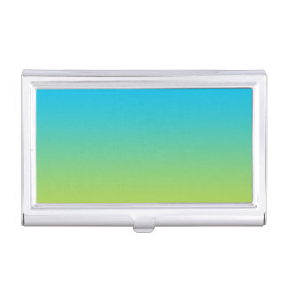 Blue & Green Ombre Business Card Holder