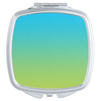 Blue & Green Ombre Travel Mirrors