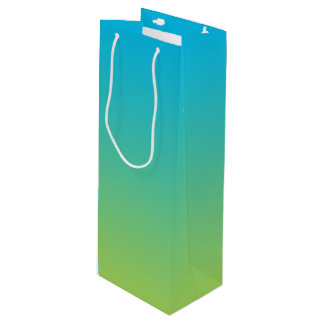 Blue & Green Ombre Wine Gift Bag