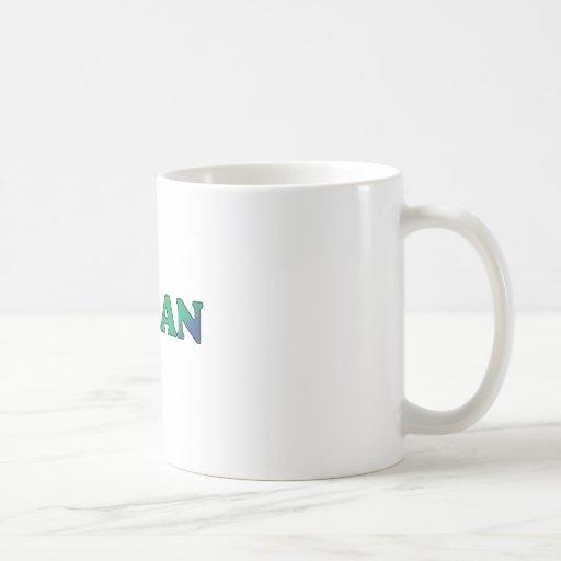 Blue Green vegan Mug