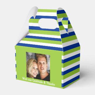 Blue green wedding photo 2a favour box