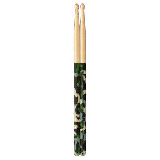 Blue Green White Cheetah Abstract Drum Sticks
