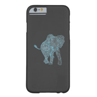 Blue/Grey Elephant iPhone 6 case Barely There iPhone 6 Case